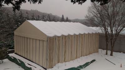 導入事例007:新型伸縮式仮設テント アルジャバライメージ