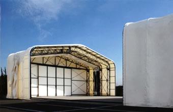 伸縮式仮設テント倉庫画像その1