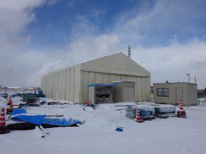 アルジャバラ 積雪タイプの設置の様子3