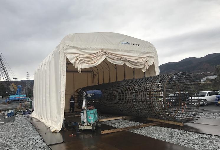 伸縮式仮設テント倉庫画像その2