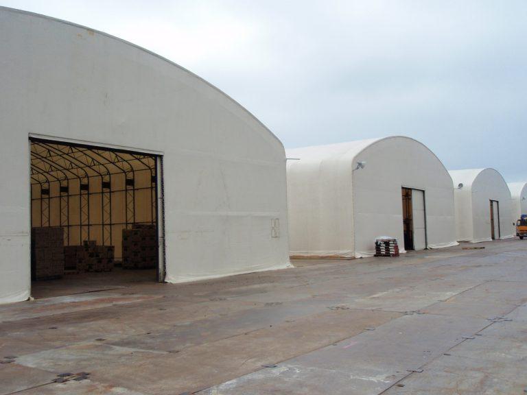 固定式仮設テント倉庫画像その1