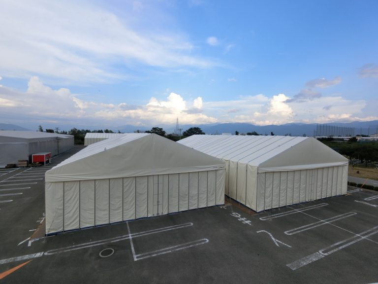 新型伸縮式仮設テント アルジャバラ画像その1